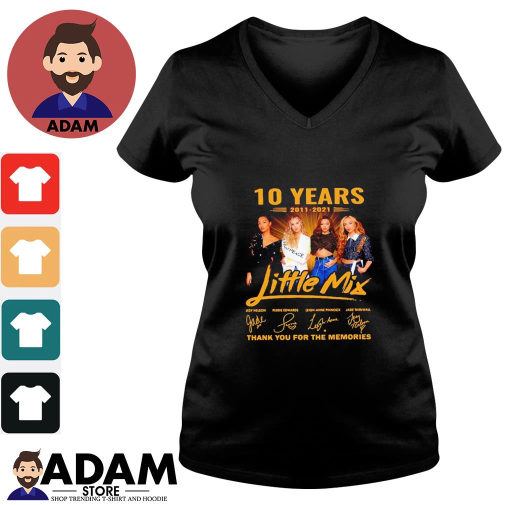 10 Years 2011-2021 Little Mix thank you for the memories V-neck-t-shirt