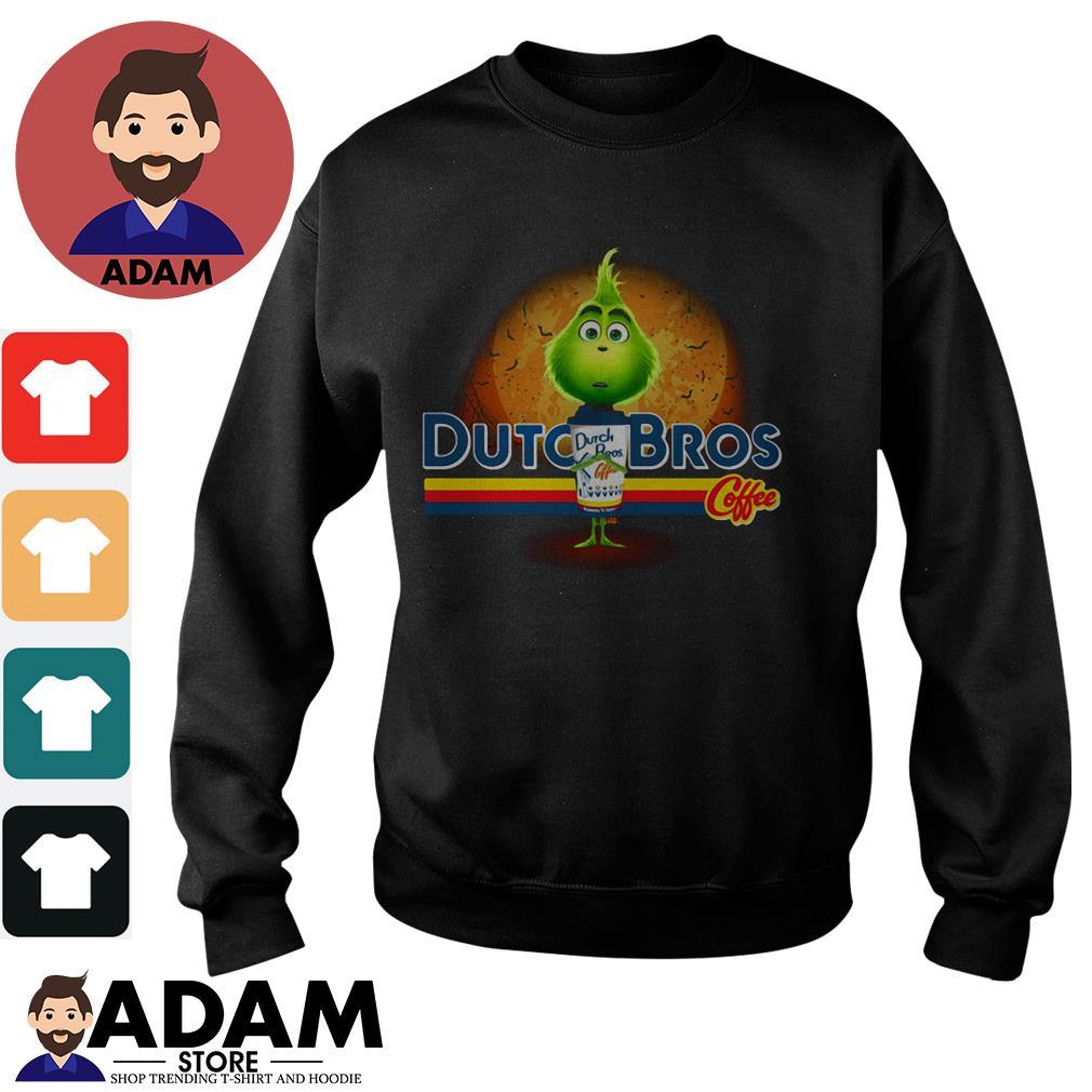 Grinch hug Dutch Bros Coffee Halloween Sweater
