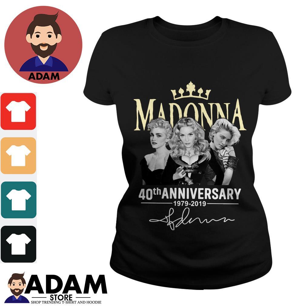 Madonna 40th anniversary 1979 2019 signature Ladies tee
