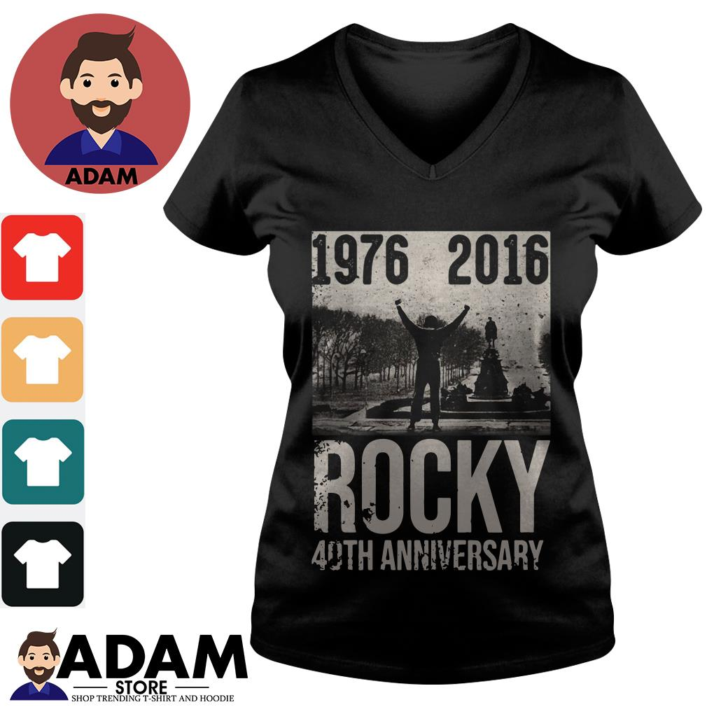 1976-2016 rocky 40th anniversary V-neck-t-shirt