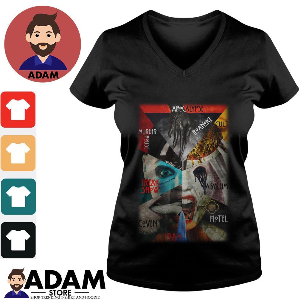 Apocalypse murder house roanoke cult freak show asylum coven hotel 1984 V-neck-T-shirt