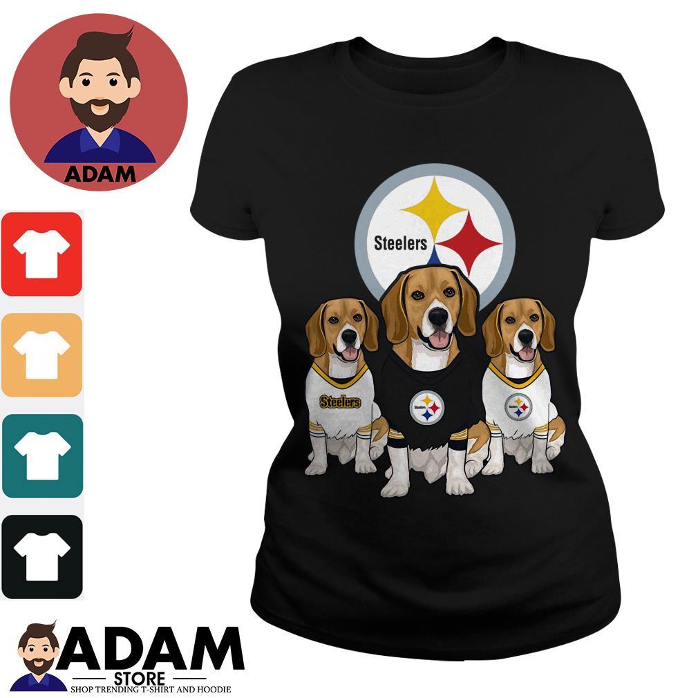 Beagle Pittsburgh Steelers Ladies tee