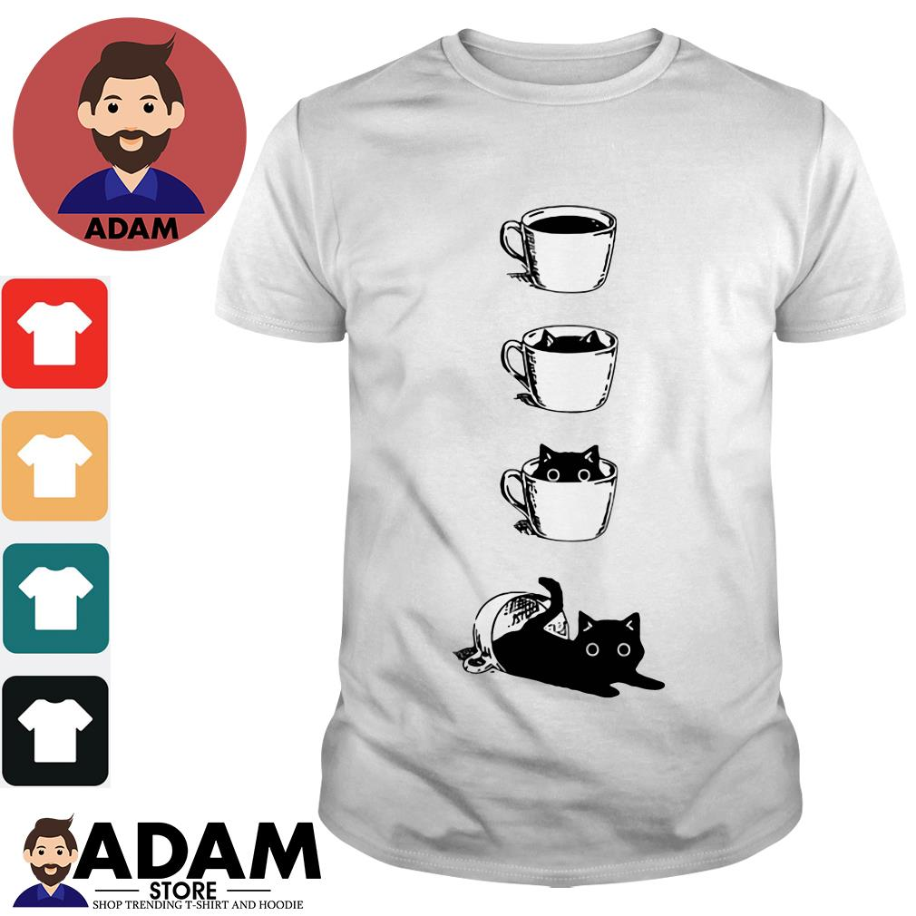 Dibujos de gatos coffee cat Ladies tee