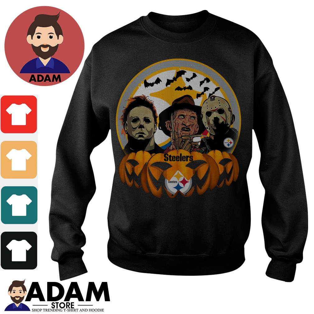Halloween horror characters pittsburgh steelers pumpkin Sweater