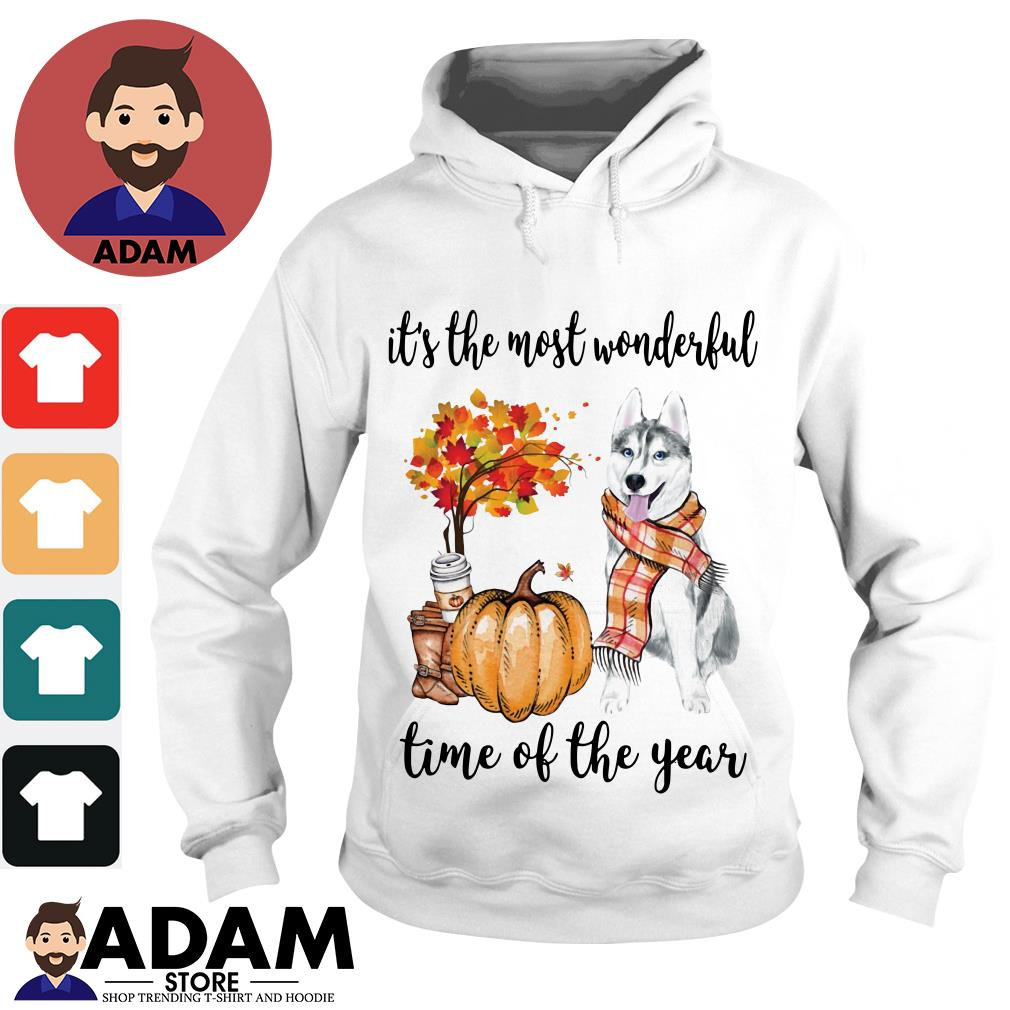 Husky it's the most wonderful time of the year Hoodie