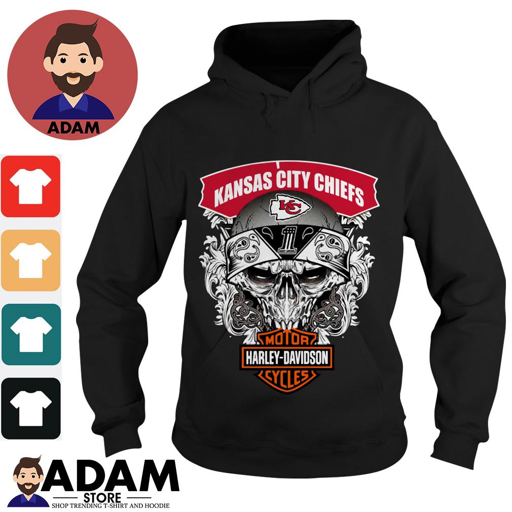 Kansas City Chiefs Harley Davidson motorcycles Hoodie