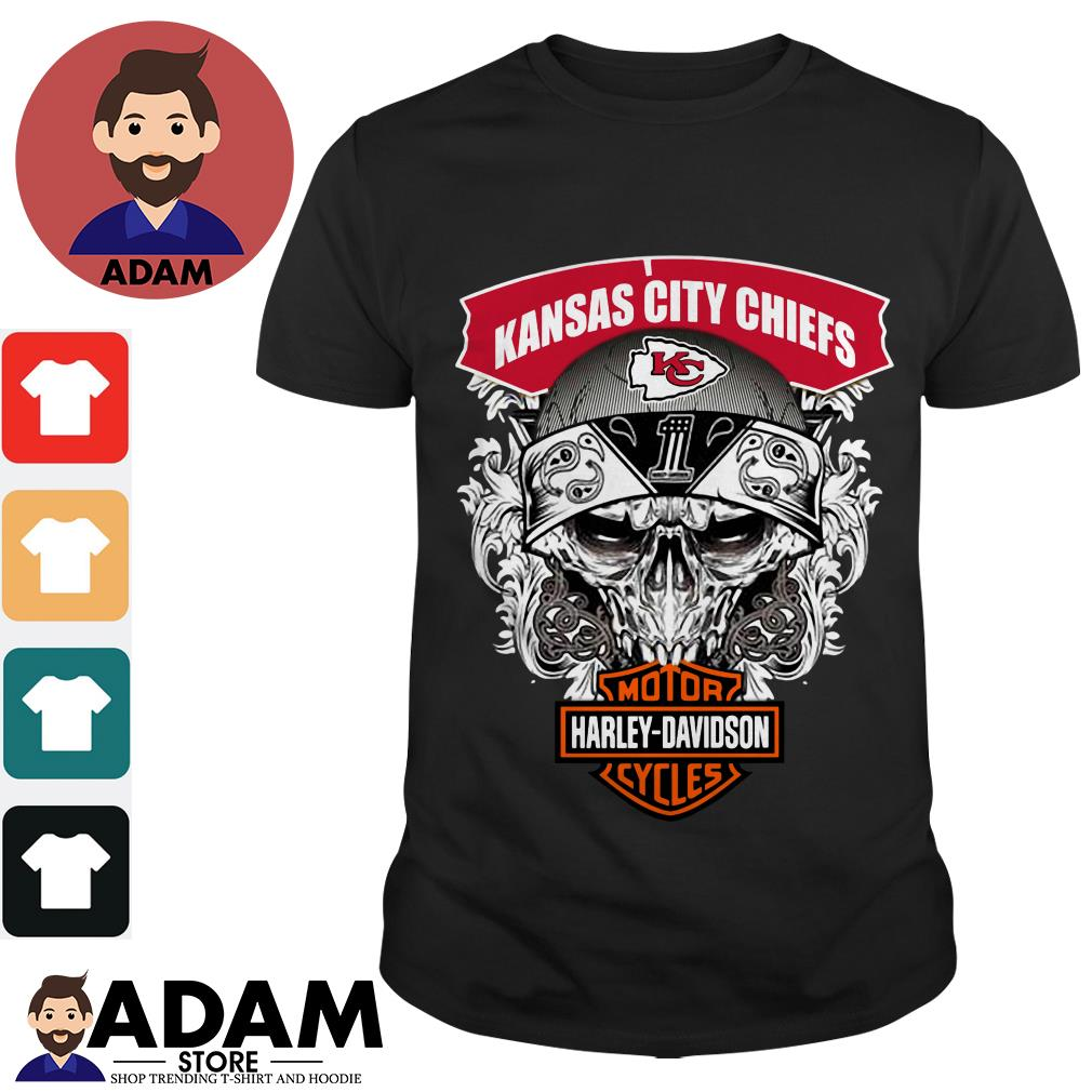 Kansas City Chiefs Harley Davidson motorcycles shirt