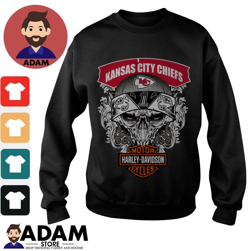 Kansas City Chiefs Harley Davidson motorcycles Sweater