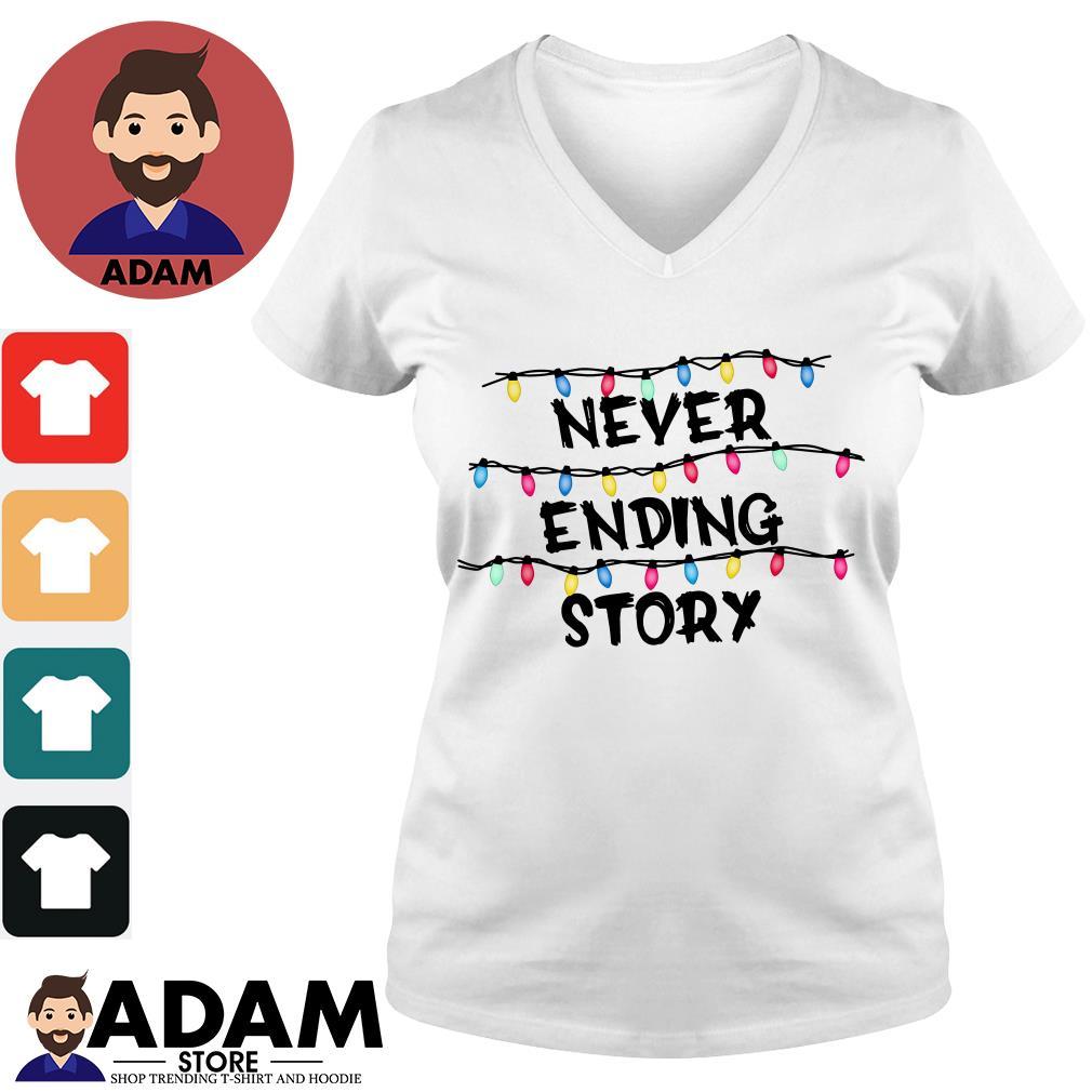 Stranger Things never ending story V-neck-T-shirt