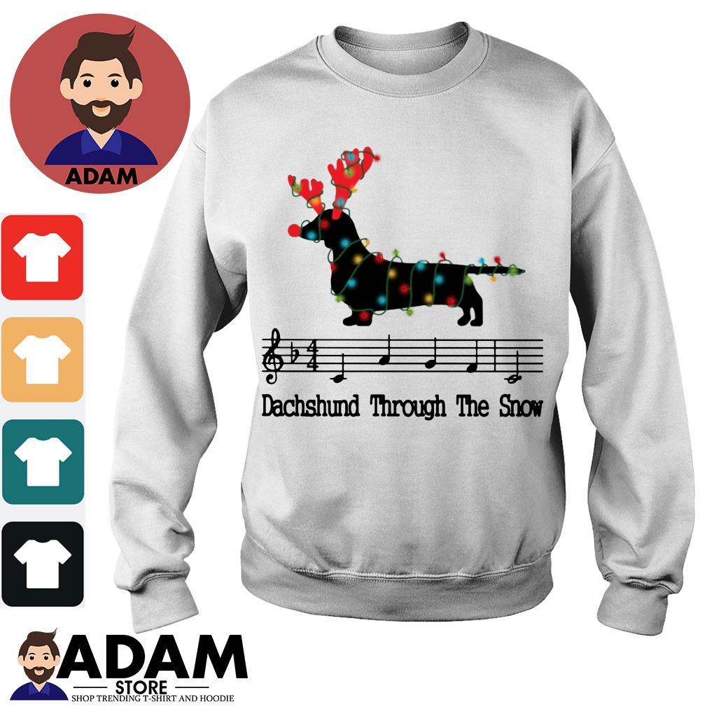 Dachshund through the Snow Music Christmas shirt, hoodie