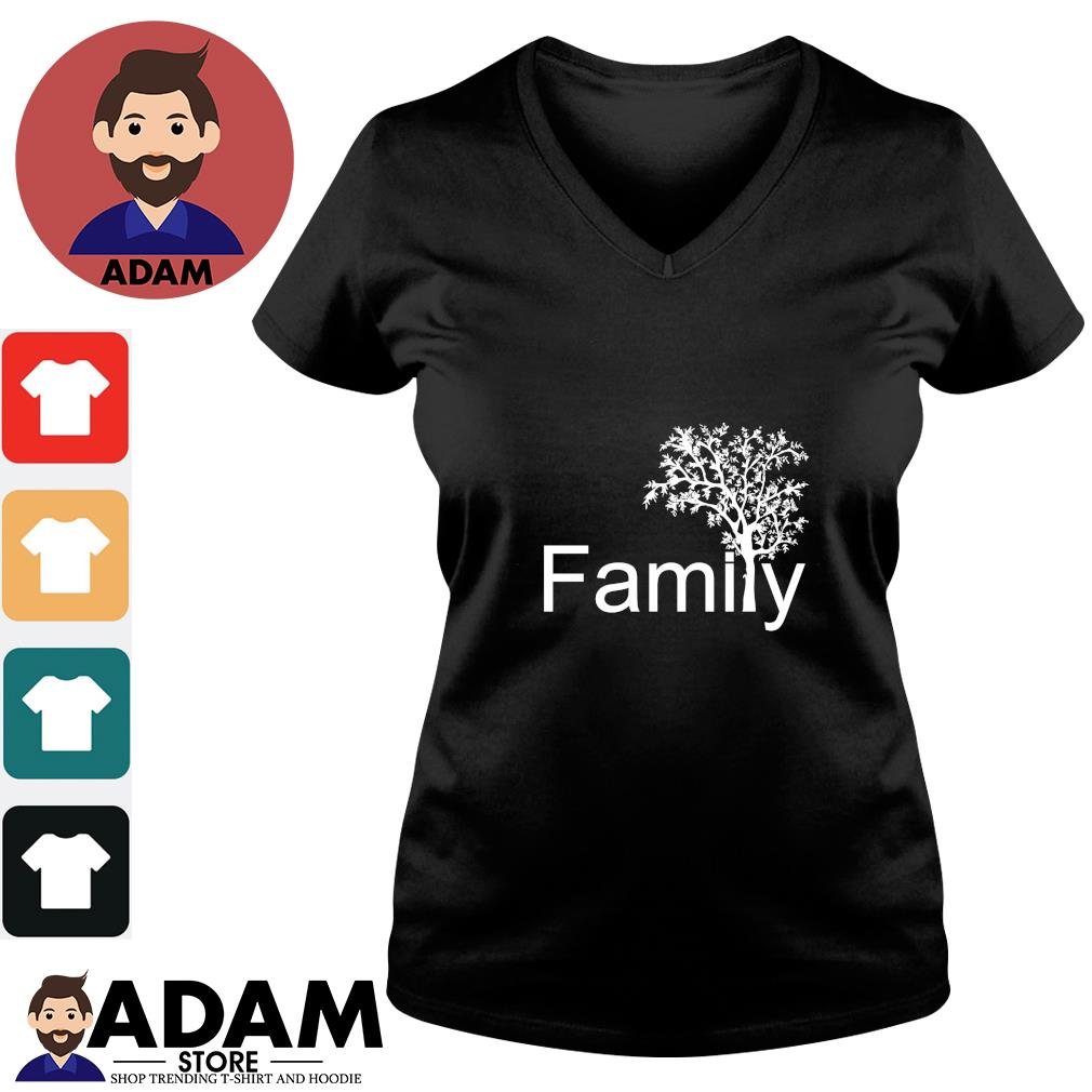 Family tree genealogy s v-neck-t-shirt