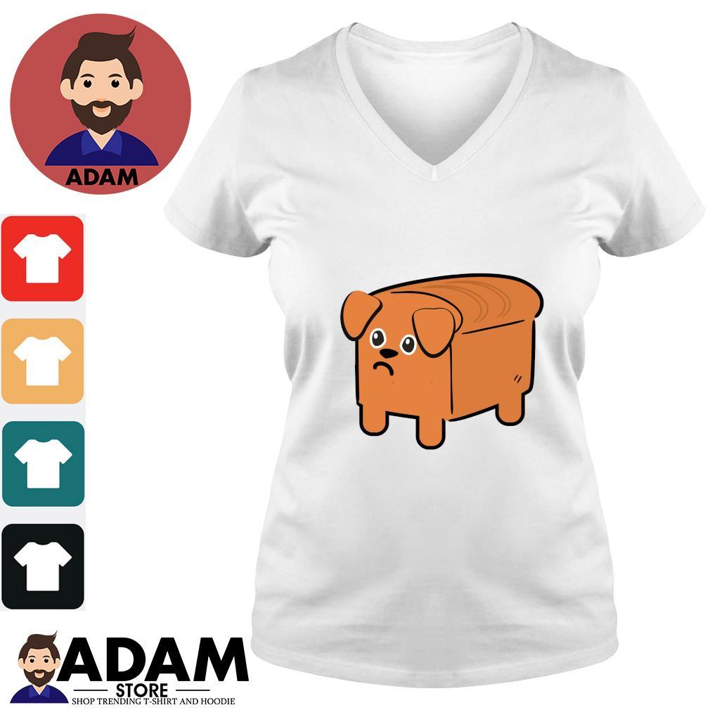 Milk bread dog cute s v-neck-t-shirt