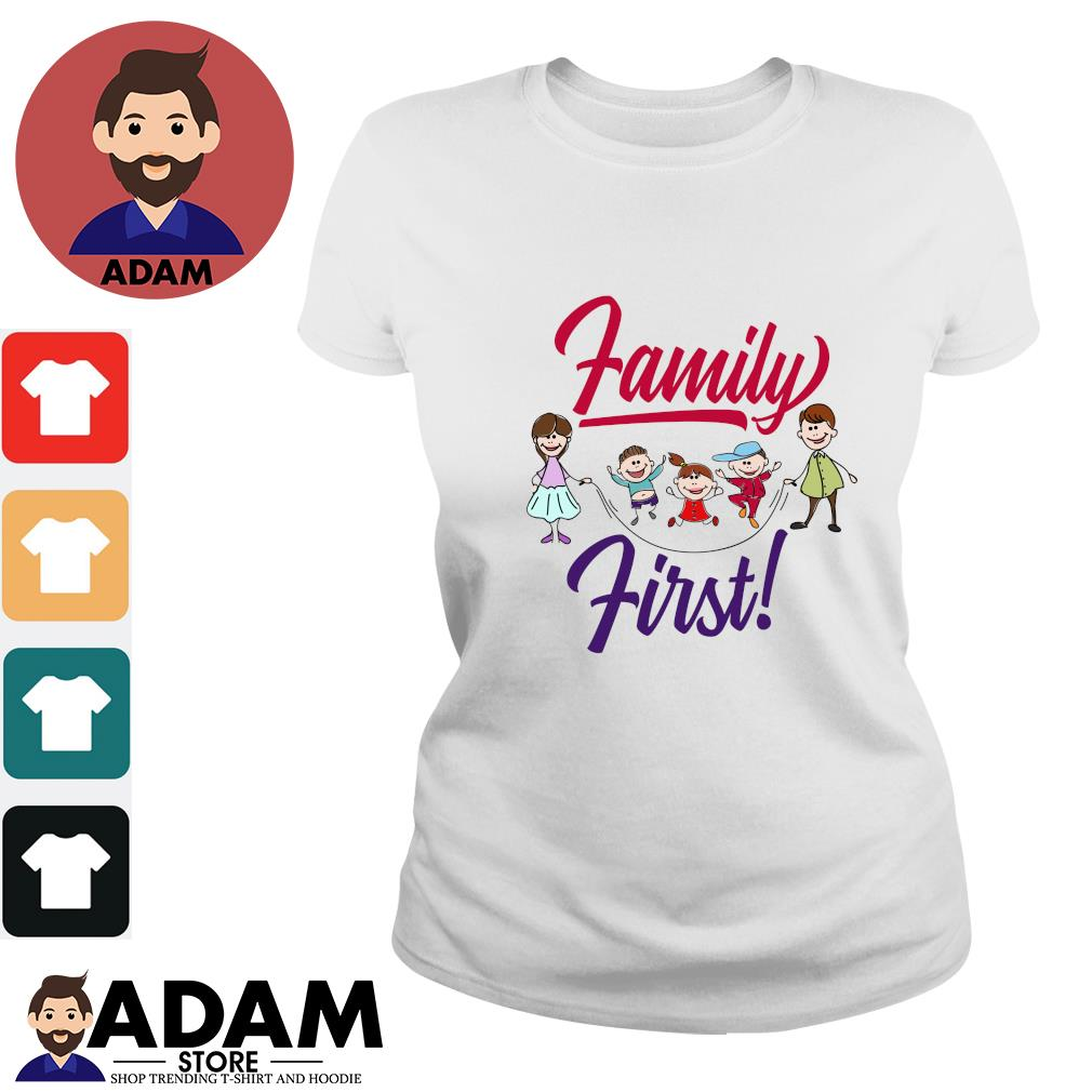 Mom and dad family first s ladies-tee
