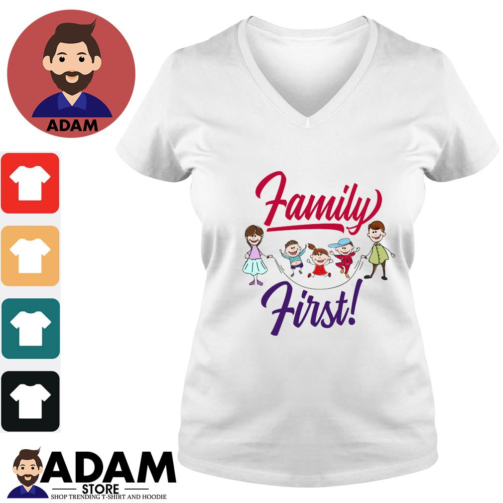 Mom and dad family first s v-neck-t-shirt