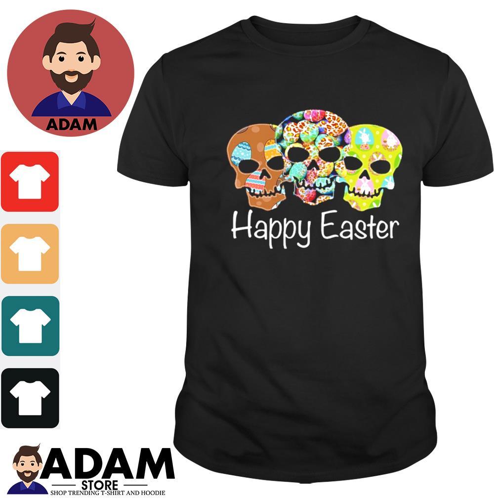 Skull happy easter shirt