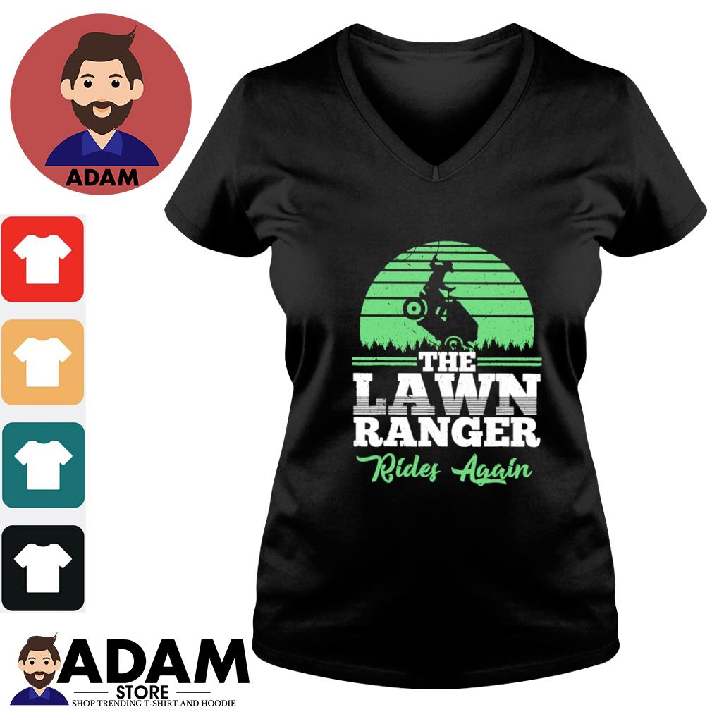 The lawn ranger rides again s v-neck-t-shirt