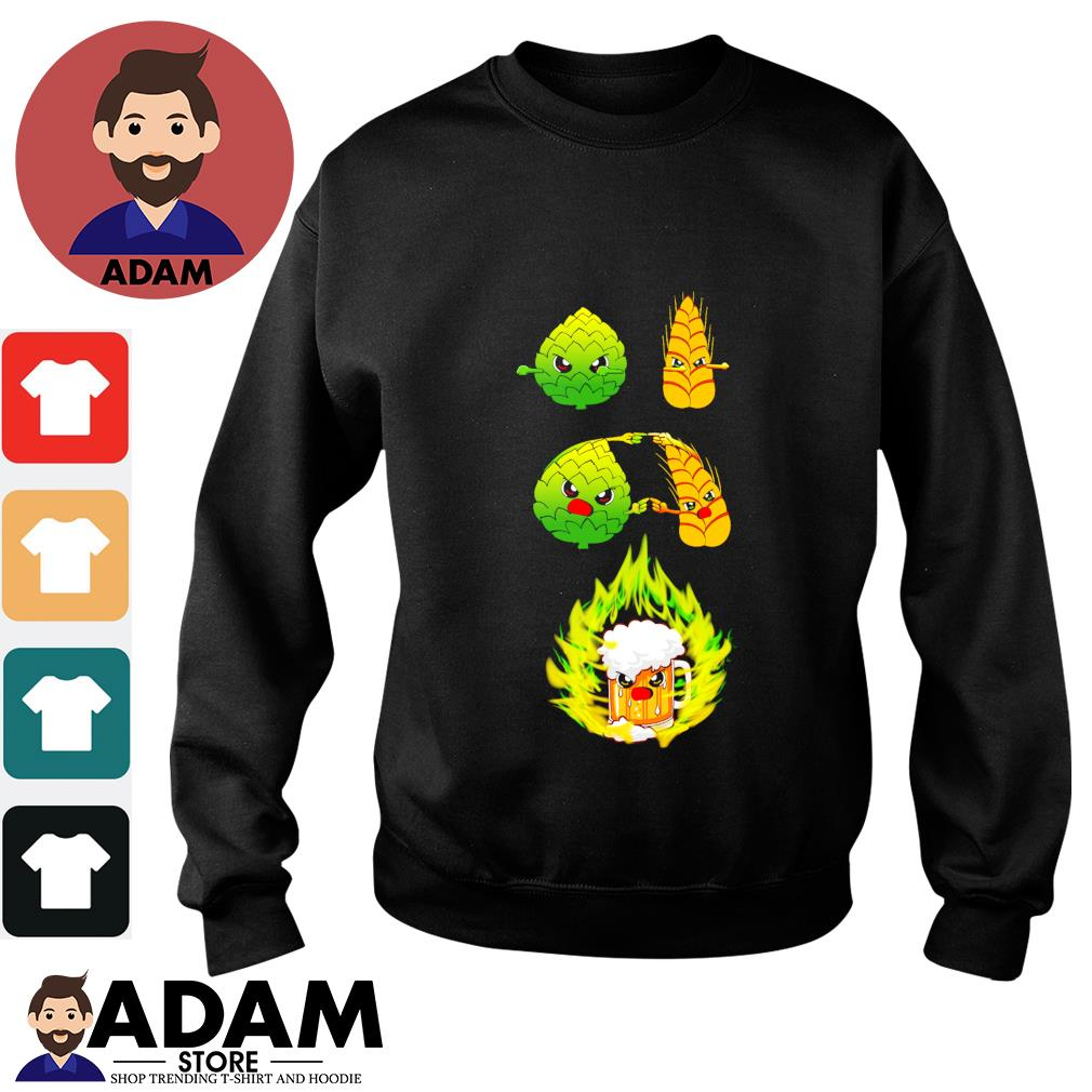 Wheat beer hops fusion beer s sweater
