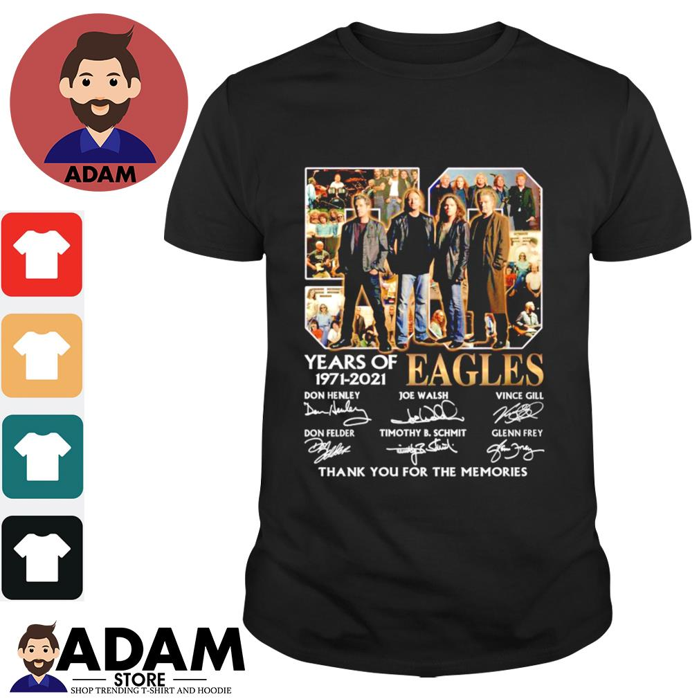 50 Years of Eagles signatures 1971 2021 thank you for the memories shirt
