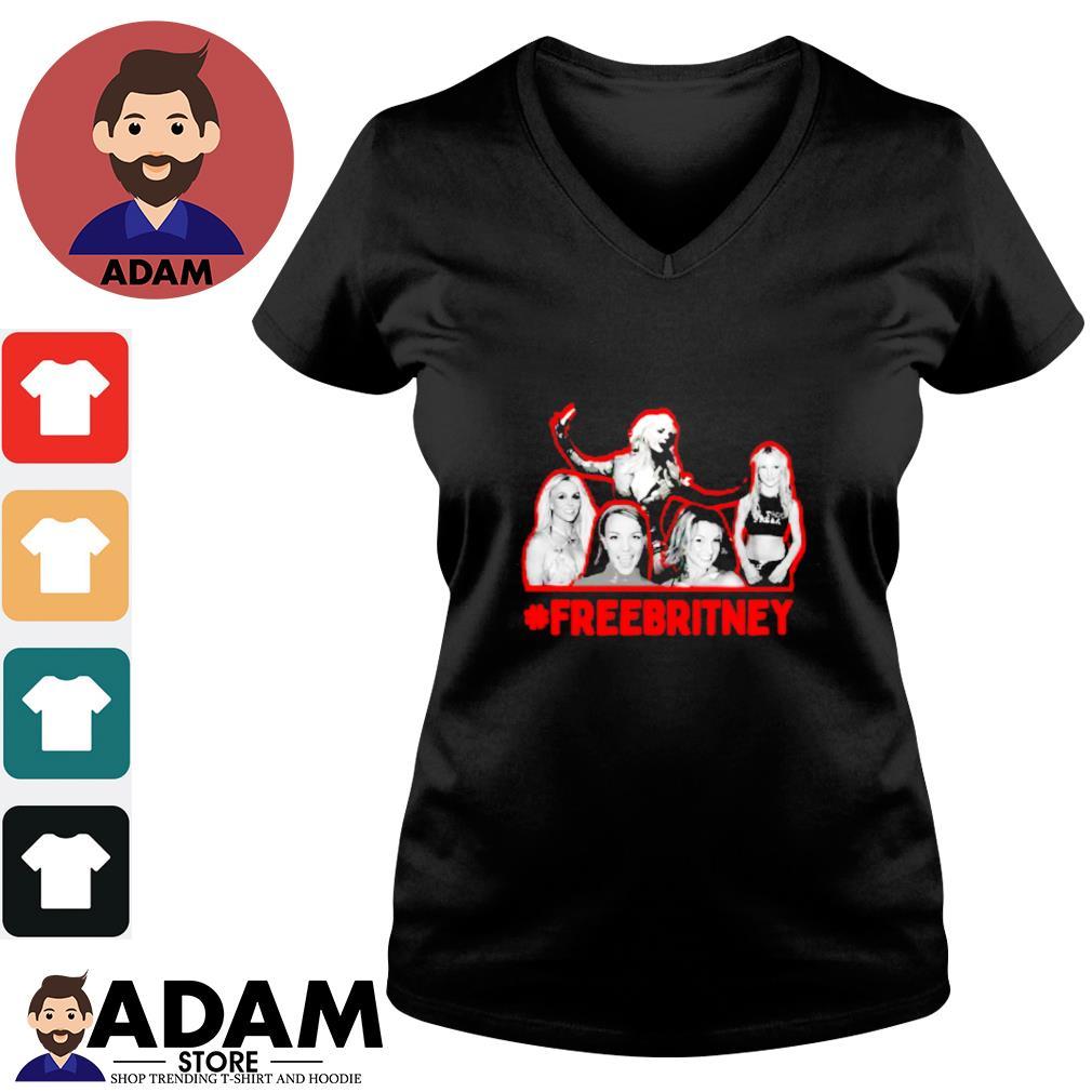 #Freebritney hashtag s V-neck-t-shirt